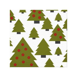 Weihnachtsbaum-grüne u. rote grafische Kunst Leinwanddruck