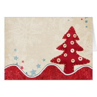 Weihnachtsbaum-Gruß-Karte Karte