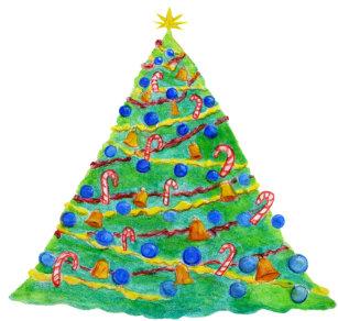 Weihnachtsbaum Gezeichnet.Weihnachtsbaum Flyer Zazzle De
