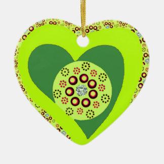 Weihnachtsbaum-Herzverzierungsgewohnheit Keramik Ornament