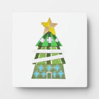 Weihnachtsbaum-Hotel auf einem Gestell Fotoplatte