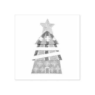 Weihnachtsbaum-Hotel-Briefmarke Gummistempel