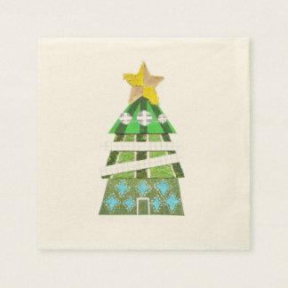 Weihnachtsbaum-Hotel Ecru Servietten