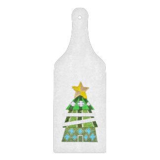 Weihnachtsbaum-Hotel-Paddel-hackendes Brett