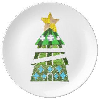 Weihnachtsbaum-Hotel-Porzellan-Platte Teller