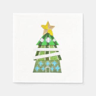 Weihnachtsbaum-Hotel-Servietten Papierserviette