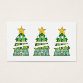 Weihnachtsbaum-Hotel-Visitenkarten Visitenkarte