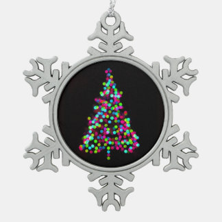 Weihnachtsbaum-Juwelen Schneeflocken Zinn-Ornament