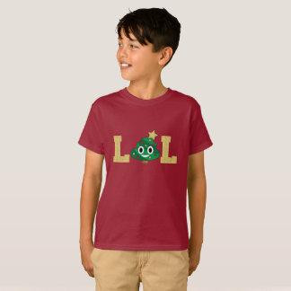 Weihnachtsbaum kacken Emoji Jungen-T - Shirt