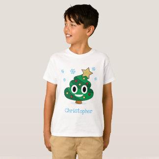 Weihnachtsbaum kacken Emoji KinderT - Shirt mit