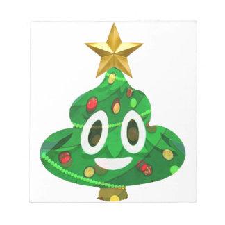 Weihnachtsbaum kacken Emoji Notizblock
