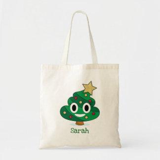 Weihnachtsbaum kacken Emoji Taschen-Tasche Tragetasche