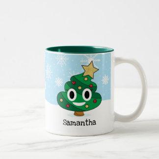 Weihnachtsbaum kacken Emoji Tasse