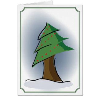Weihnachtsbaum Karte