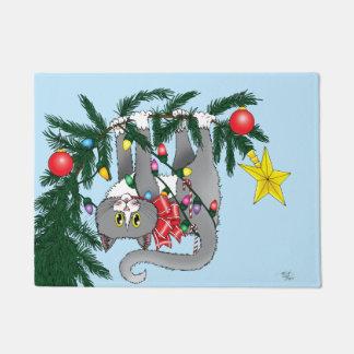 Weihnachtsbaum-Katze Türmatte