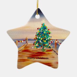 WEIHNACHTSBAUM KERAMIK Stern-Ornament