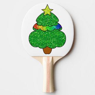 Weihnachtsbaum-Klingeln Pong Paddel Tischtennis Schläger