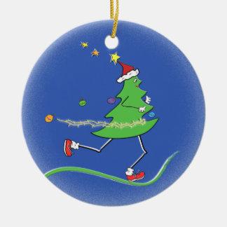 Weihnachtsbaum-Läufer © Keramik Ornament