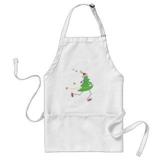 Weihnachtsbaum-Läufer Schürze