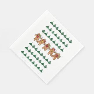 Weihnachtsbaum-Lebkuchen-Mann-Ferienzeiten Papierservietten