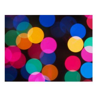 Weihnachtsbaum-Lichter Postkarte