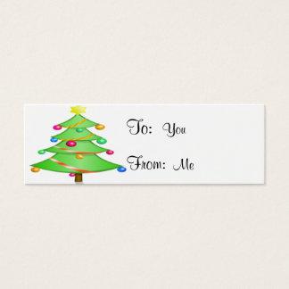 Weihnachtsbaum Mini Visitenkarte