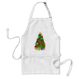 Weihnachtsbaum mit Dekorationen Schürze