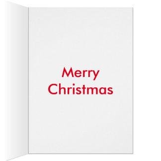 Weihnachtsbaum mit Gruß Karte