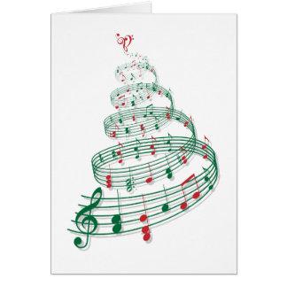 Weihnachtsbaum mit Musiknoten Grußkarte