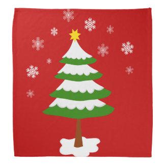 Weihnachtsbaum mit Schnee-Schneeflocken Halstuch