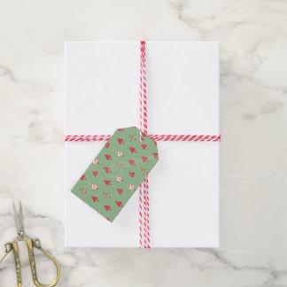 Weihnachtsbaum-Muster Geschenkanhänger