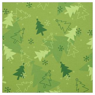 Weihnachtsbaum-Muster Gewebe Stoff