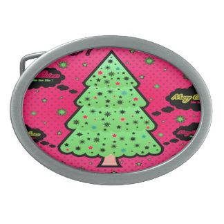 Weihnachtsbaum Ovale Gürtelschnallen