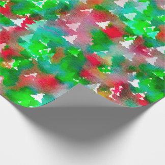 Weihnachtsbaum-Packpapier-Aquarell Geschenkpapier