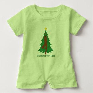 """""""Weihnachtsbaum-Pose"""" Babyspielanzug Baby Strampler"""