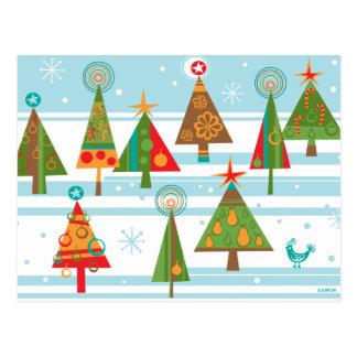 Weihnachtsbaum-Postkarten Postkarte