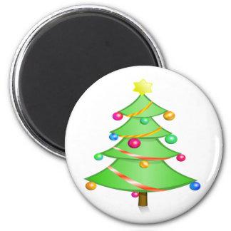 Weihnachtsbaum Runder Magnet 5,7 Cm