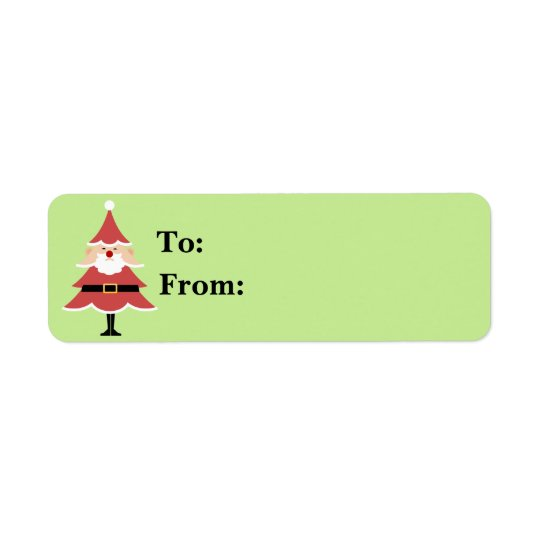 Weihnachtsbaum-Sankt-Geschenk Lables Rücksende Aufkleber