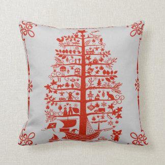 Weihnachtsbaum-Schiff Kissen
