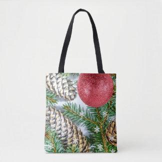 Weihnachtsbaum, Schneeflocke- u. Pinecone Tasche