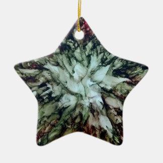 Weihnachtsbaum-Stern Keramik Ornament