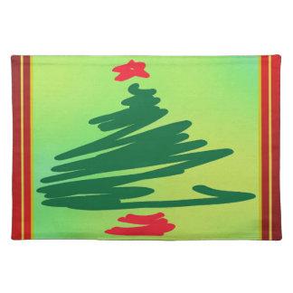 Weihnachtsbaum Stofftischset