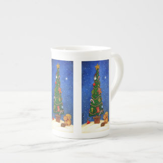 Weihnachtsbaum-Tasse Porzellantasse