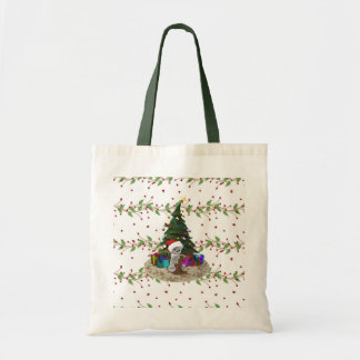 Weihnachtsbaum-Teddybär Budget Stoffbeutel