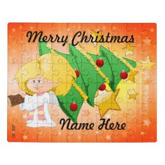 Weihnachtsbaum u. Sterne Puzzlespiel u. Zinn Puzzle