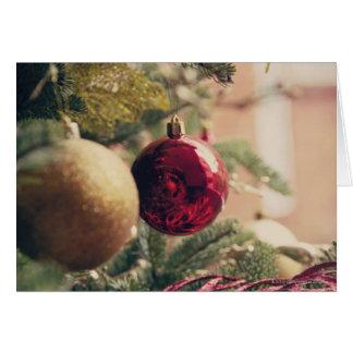 Weihnachtsbaum und Dekoration Karte