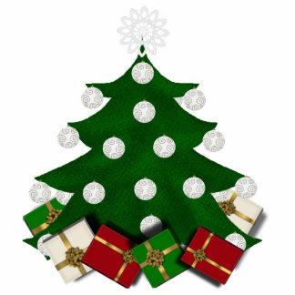 Weihnachtsbaum und Geschenk-Verzierung Fotoskulptur Ornament