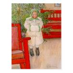 Weihnachtsbaum und Kind in den Pelzen Postkarten