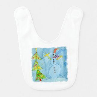 Weihnachtsbaum und Schneemann Lätzchen
