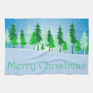 Weihnachtsbaum- und Sternillustration Geschirrtuch
